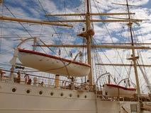 Cordas e barcos imagem de stock
