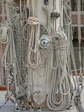 Cordas e nós Fotografia de Stock