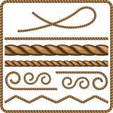 Cordas e nós Imagens de Stock Royalty Free