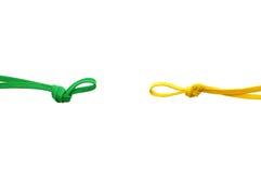 Cordas e nós Imagens de Stock