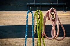 Cordas no fencepost Imagens de Stock Royalty Free