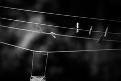 Corde à linge Photographie stock libre de droits