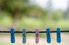 Corde à linge Photographie stock