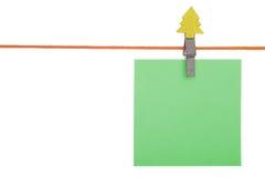 corde à linge feuille de papier Images stock