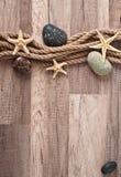 Corde, étoile de mer, pierres de mer Photo libre de droits