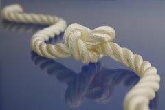 Corde avec le noeud Images stock