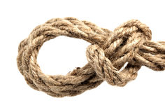 Corde avec le noeud Photographie stock libre de droits