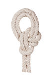 Corde avec le noeud Photo stock