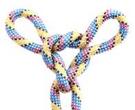Corde avec le noeud Photographie stock