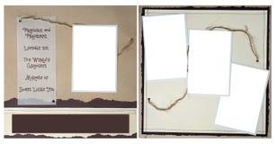 Corde blanc et page de papier déchirée d'album à Digitals Photos stock