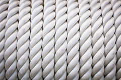 Corde blanche Photographie stock
