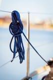 Corde bleue Photographie stock
