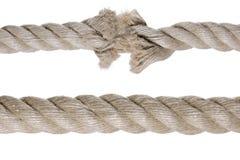 Corde cassée Photo libre de droits