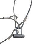 Corde collegate serratura del ciclo di collegare di sicurezza sul lavoro Immagini Stock
