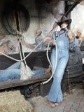 Corde d'agriculteurs de marionnette Image stock
