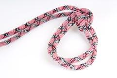 Corde d'alpiniste avec le noeud Photographie stock libre de droits