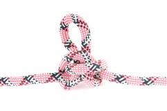 Corde d'alpiniste avec le noeud Photos stock