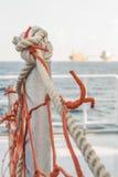 Corde dans le bateau d'approvisionnement photo libre de droits