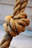 Corde dans un noeud Photographie stock libre de droits