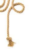 Corde de bateau sur le fond blanc Photographie stock libre de droits