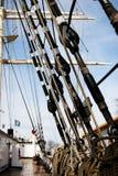 Corde de bateaux sur le paquet Image stock