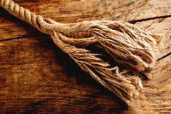 Corde de chanvre Image libre de droits