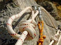 Corde de descente de canyon Photos libres de droits