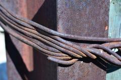 Corde de fil d'acier Photographie stock