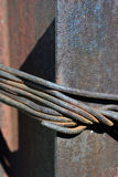 Corde de fil d'acier Images stock
