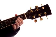 Corde de guitare un commandant Photographie stock
