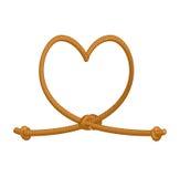 Corde de lien de coeur corde épaisse de l'amour Amour de corde Symbole d'éternel Photos stock