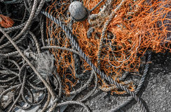 Corde de pêche Images stock