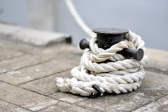 Corde de port Photographie stock libre de droits