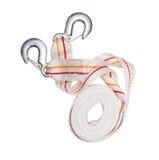 Corde de remorquage avec des crochets en métal Photo stock