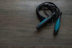 Corde de saut bleue Photos libres de droits