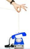corde de traction orange de téléphone quelqu'un Image libre de droits