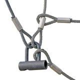 Corde del ciclo di collegare della serratura di sicurezza sul lavoro isolate Fotografia Stock
