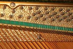 Corde del piano Fotografie Stock
