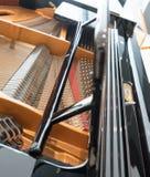 Corde del pianoforte a coda Piano all'interno fotografia stock