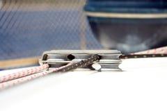 Corde dell'yacht fotografia stock
