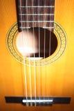 Corde della chitarra Fotografie Stock