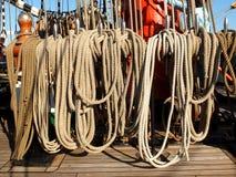 Corde della nave di navigazione Siedow Immagini Stock Libere da Diritti