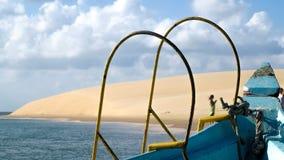 Corde di una barca Fotografie Stock