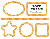Corde differenti della struttura Fotografia Stock Libera da Diritti