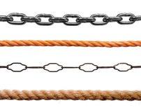 Corde e catene Fotografia Stock