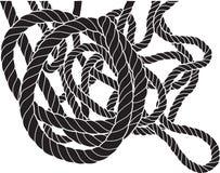 Corde embrouillée Image libre de droits