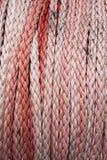 Corde en nylon pour des bateaux avec le sable rouleau Historique complet images stock