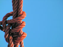 Corde en nylon rouge   Images stock