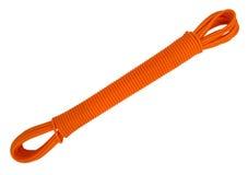 Corde en plastique de corde à linge - orange Photo stock