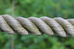 Corde en spirale tressée de coton Photos libres de droits